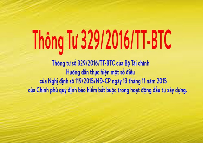 thông tư 329/2016/TT-BTC