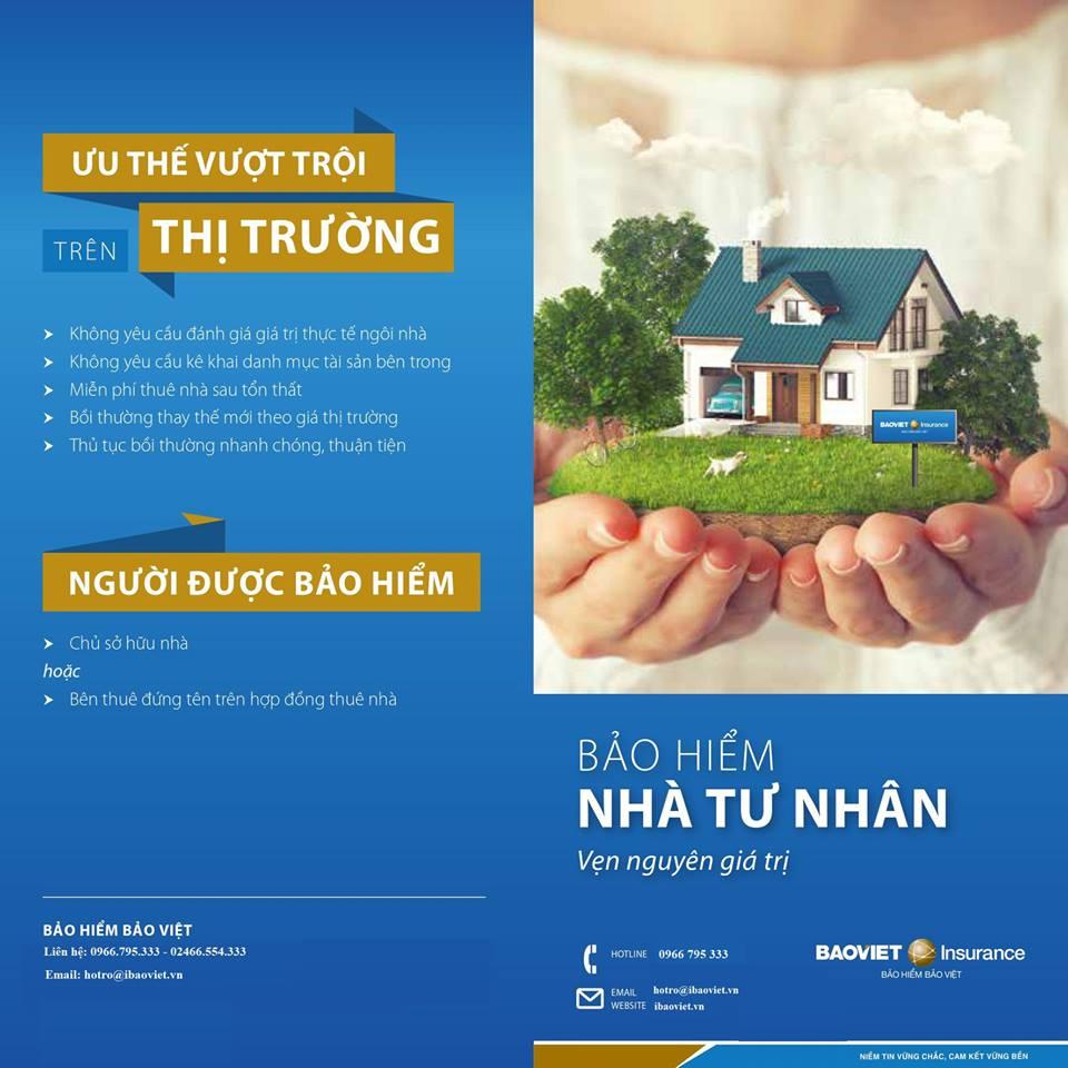 Một số ưu điểm của bảo hiểm nhà tư nhân