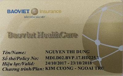 thẻ vàng bảo hiểm Bảo Việt HealthCare