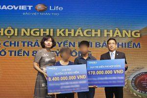 Bảo Việt Nhân thọ chi trả 8,4 tỷ đồng cho khách hàng